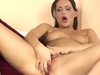 Beautiful brunette lady Marketa with sexy
