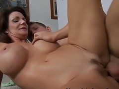 Lucky handsome guy Danny Wylde gets a really nice fuck with amazing babe with...
