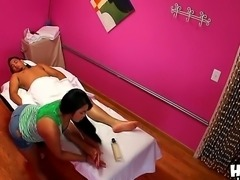Asian babes are really good in making massage and this fellow is quite...