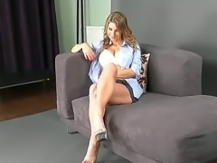 Savoury cutie Katerina with nice big boobs and long legs changes her clothes...