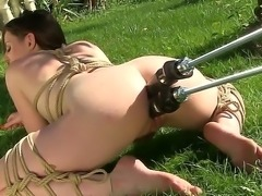 Samantha Bentley is feeling quite the hardcore way today, she is all tied up...