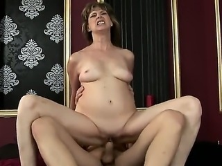 An old lady Judyt dreams to be fucked in hardcore mode, when her ill husband is sleeping in his own bedroom. She pays for the sex and get the strong young dick in her old smelly vagina!