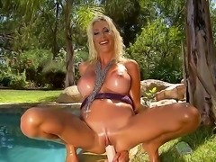 Mesmerizing blonde sex bomb Puma Swede woke up with really hungry pussy...