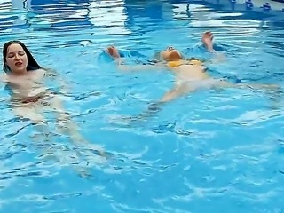 Marvelous chicks with sexy skinny bodies Vika and Ivana are having an awesome time at the pool, while being all naked and horny on camera. Enjoy the hot video.