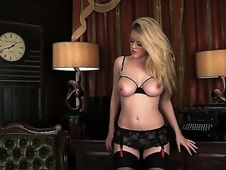 Spectacular Brook Little knows exactly how to tease a man, doing a marvelous striptease and showing her big tits she will completely drive you crazy and make you wish to fuck her.