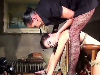 Big boss Melon is banging his secretary Kathia Nobili while is being tied up...