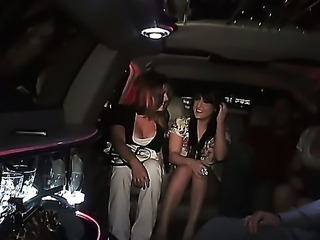 A company of young laughing guys and girls ride the car and prepare for the party. They drink some alcohole and invent funny jokes. One of them involves seductive models Gin Marie and Tila Flame.