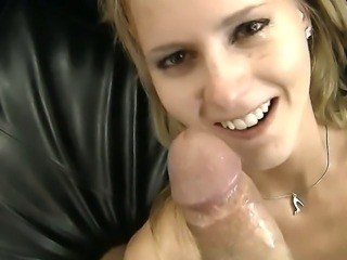 Rocco Siffredi is a good tutor, who teaches Candice of sucking cocks. She is a very obedient and attentive pupil who takes his dick with no word against.