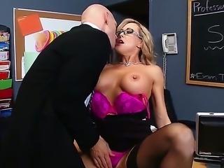 Seductive blonde milf Brandi Love with