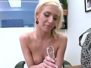 Blonde Ella Marie is a very