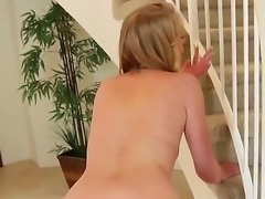 Gorgeous blonde with big natural boobs and alluring eyes Allie James rubs her...