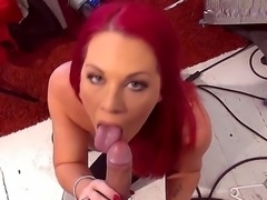 Private show of the amazing sexy babe Paige Delight that has a flaming red...