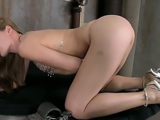 Wonderful hottie Sophie Moone loves masturbating her shaved cunt in nasty solo