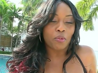 Jada Fire is on the screen now. Her plump ass and big tits are totally amazing. Tony has a great chance to taste the beauty of this ebony pro today and right now!
