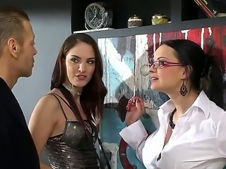 Rocco Siffredi in the famous winner of super hard and huge dick! Today he was invited by two horny photographers Abbie Cat and Lyen Parker for a photo session, that turns into hot fucking scene.