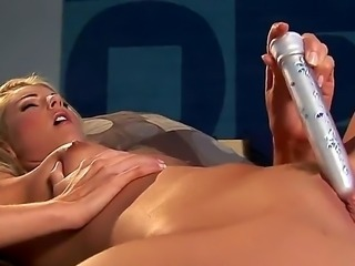So beautiful and horny girl Samantha Ryan lying on her back and exciting hot with her sexy smooth body shape, she masturbates with dildo pretty hot!