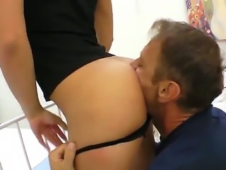 Rocco Siffredi is relaxing with two very beautiful chicks in front of the camera. One of them sucks his cock and gets licked nicely while second gal is masturbating.