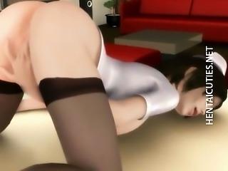 3D hentai bitch gets facialized hard