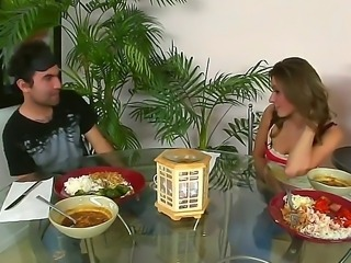 Provocative playful brunette Victoria Lawson with hot body has fun with hot...