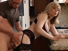 Lucky lucky Dane Cross doing wild things with mind-blowing blonde MILF Nina...