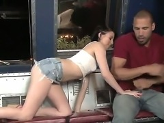 Naughty whores Megan Piper and Roxanne Hall starving for deepthroat blowjob...