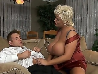 Busty mature Claudia Marie is having intense pleasure letting Bill Bailey to fuck her ass
