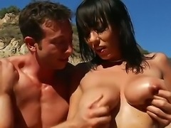 Huge tittied milf Alia Janine is banging with Jordan Ash on a boat. Bitch is...