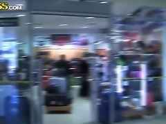 Sexy cute naughty diva Grace seductively walks in mall to get an alpha male...
