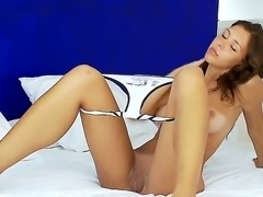 Young and sweet Maria shows us