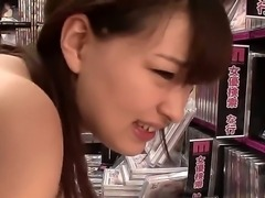 Pretty Japanese girlfriend Yukiko Suoh has sexy tanned skin, skinny body and...