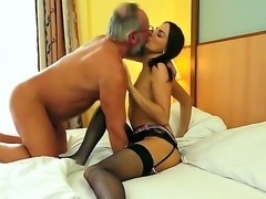 Lyen Parker is a hot babe and she loves to bang with old men, because they...