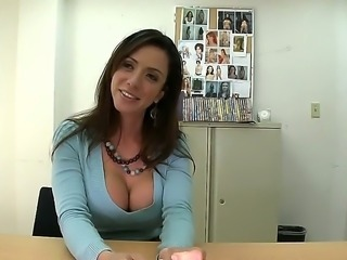 Incredible milf Ariella Ferrera came for an audition! She has perfect body for hot fucking scenes with her big boobs and trimmed pussy. So lets check her treasures in the action.