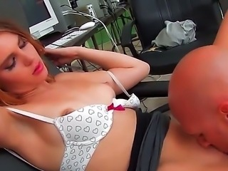 Hello to everyone! Fantastic and hot babe Jonni Hennessy opens her sweet mouth and gets her boss dick! It looks so hot!!! I am sure that you will like it too! Enjoy!!!