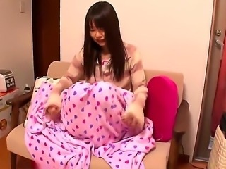 Asian milf Tsubomi is looking for her favorite vibrator, because she wants to...