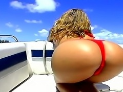 This boat is coming out into the sea with a serious load of ass on board  all...