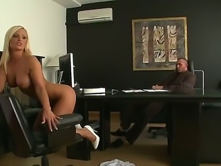 Dazzling curvaceous blonde Krissy Style wants Norby to totally crave her ass...