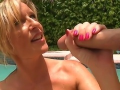 Busty and sexy blonde milf Jodi