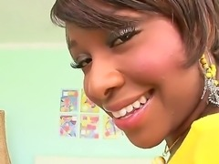Beautiful ebony babe Imani Rose gets