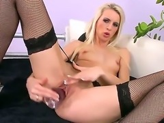 Sexy blonde babe Alexa Wild brought her favorite sex toy and wants to show...