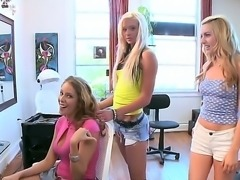 Amazing horny dolls Kelso DLove, Lexi Belle and Nikki Brooks playing wild...