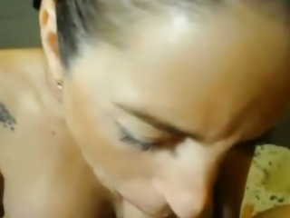 Busty Babe Swallows After Getting Fucked in her Ass