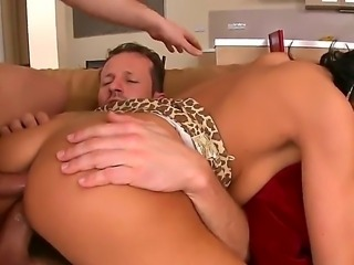Cute leggy girl Tera Joy loves to be fucked by two men at once. This time is...
