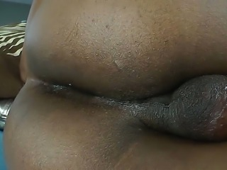 Shemale video by Kayla Biggs from Tailand, that has cute face, tits and smelly hairy dick. He uses the anal dildo to get some pleasure, being alone. He works hard to make his asshole huger