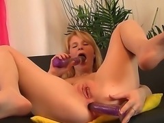 Enjoy delightful steamy college whore Cofi masturbating with sex toys putting...