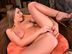 Morgan Moon with sweet boobs is feeling horny and naughty, masturbating her...