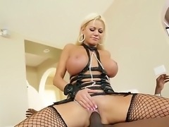 Tight blonde Lexington Steele is having wild fuck and suck actions with her...