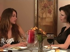 Two fucking horny lesbians on the date! Awesome Allie Haze and stunning...