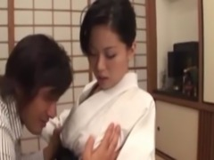 Mature japanese pleasing her husband free