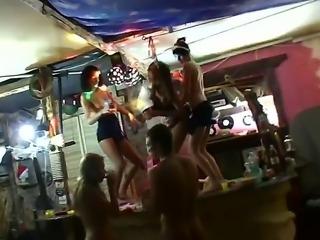 A fun group of teenagers celebrates
