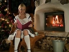 Relax here where Santa comes to Nikky Thorne wishing to fuck this naughty...